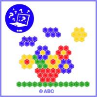mozaika kvety
