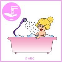 HRA ČISTÉ TELO - sprchujem sa, kúpem sa