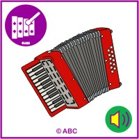 Akordeón - zvuky hudobných nástrojov - zvuk akordeóna